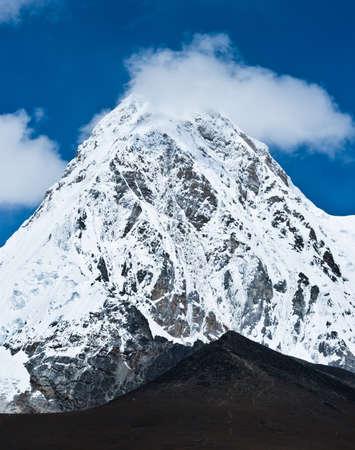 Pumo ri and Kala Patthar mountains in Himalayas. Nepal (5100-5200 m) Stock Photo - 12769438