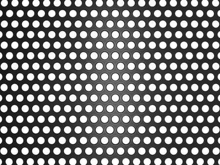 malla metalica: Parrilla de metal negro con agujeros aislados sobre blanco. Útil como fondo