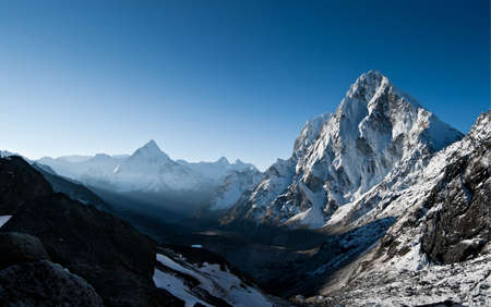 himalayas: Cho La pass during sunrise in Himalayas. at height 5200 m