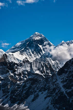 Everest Peak or Chomolungma - the top of the world (8848 m) photo