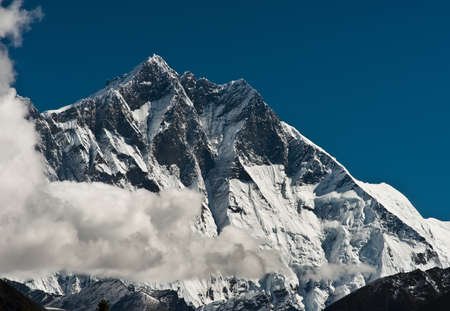 Lhotse and Lhotse shar summits: Himalaya landscape Stock Photo - 12901652