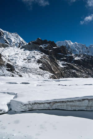 himalaya: On top of Cho La pass in Himalayas. Pictured in Nepal at height 5200 m