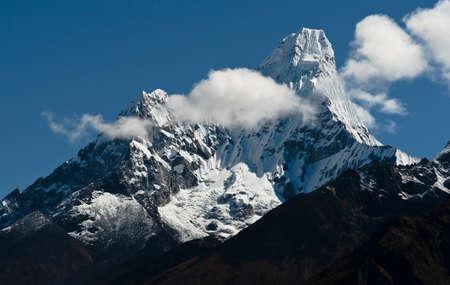 himalayas: Ama Dablam peak in Himalayas. Captured in Nepal