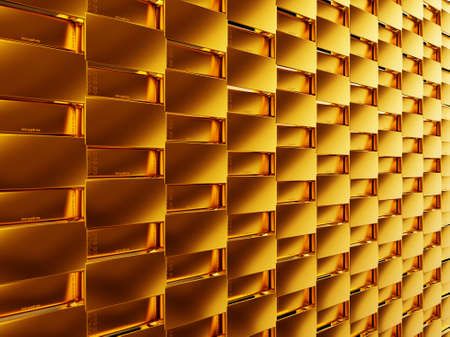 Success  gold bars or bullions  Useful as texture or background Stock Photo - 14588024