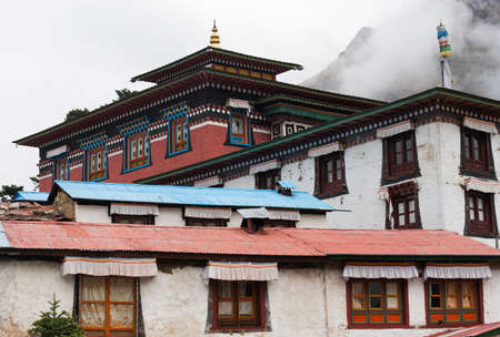 Tengboche buddhist monastery in Himalaya  Travel to Nepal photo