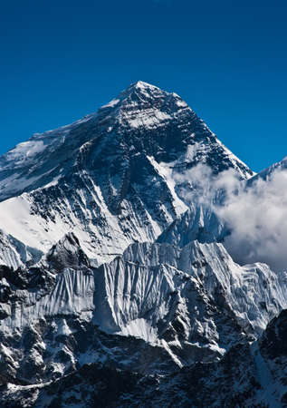 Everest Mountain Peak or Sagarmatha with 8848 m height photo