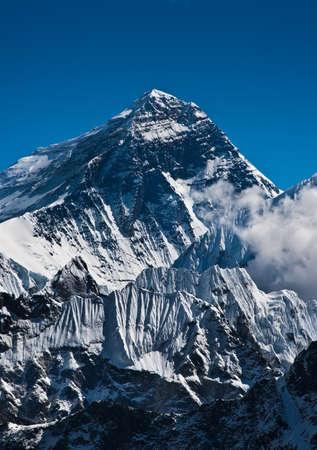 Everest Mountain Peak or Sagarmatha with 8848 m height photo