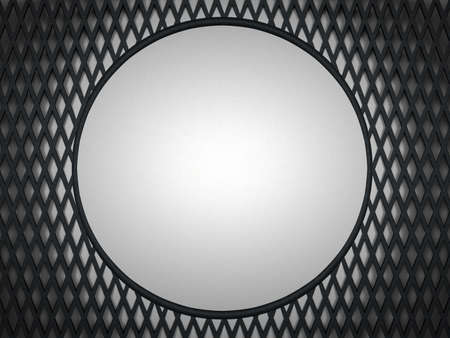 meshy: Leather background: grey circle and meshy pattern. Large resolution