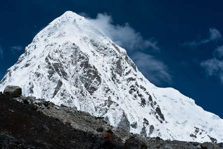 Pumo Ri Peak - Himalaya mountains. Trekking in Nepal photo