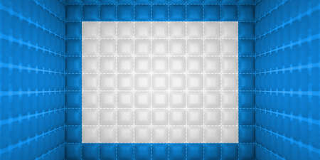 matrass: Soft room concept  Blue stitched leather pattern  Segregation or Isolation