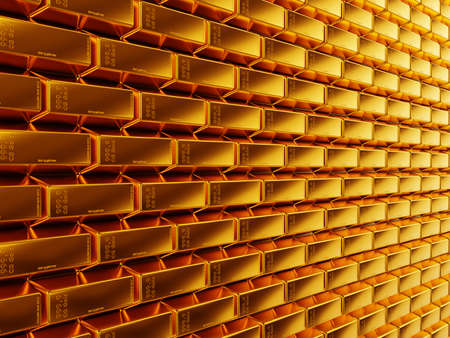 Wealth  gold bars or bullions  Useful as background  large resolution Stock Photo - 14588394