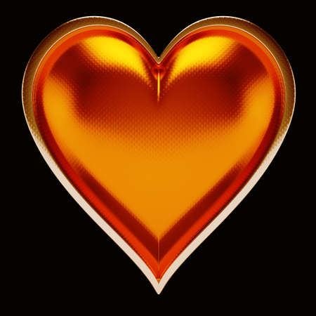 Card suits: golden hearts over black. Poker and casino photo