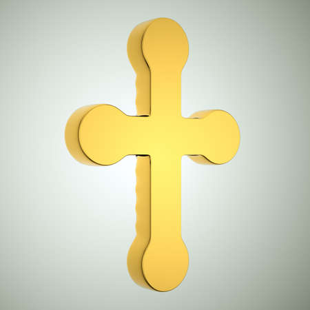godliness: Jewelery and religion: golden cross. Custom made and rendered