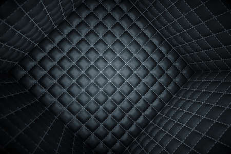 matrass: Segregation or Isolation. Soft room concept. Black stitched leather pattern