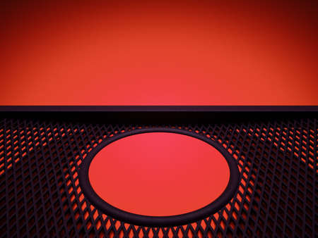 meshy: Meshy pattern and circle over red leather background. Large resolution