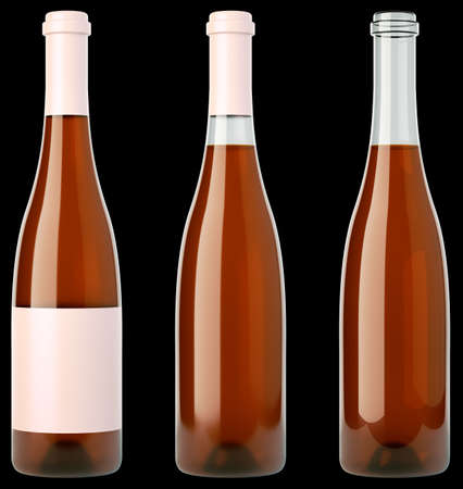 aligote: Beverage: three bottles of wine or brandy over black