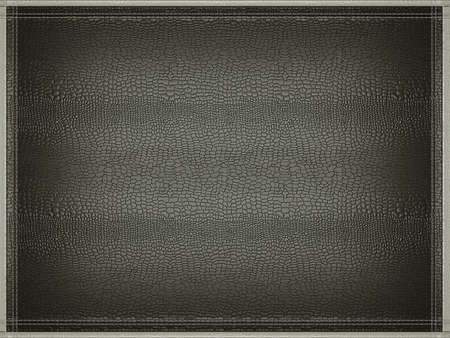 grey background texture: Black mock croc or alligator skin background with stitched gray border frame. Useful for fashion and business