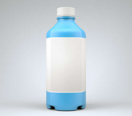 tare: Blue bottle for chemicals or drugs or fluids. High resolution