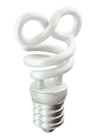 endlessness: Endlessness symbol light bulb isolated over white background