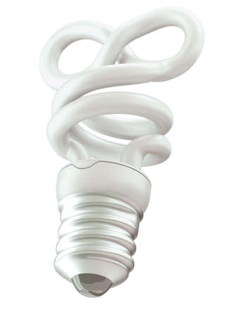 endlessness: Endlessness or infinity symbol light bulb isolated over white