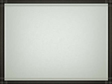 Gray leather background with stitched black border frame. Useful for fashion and business photo