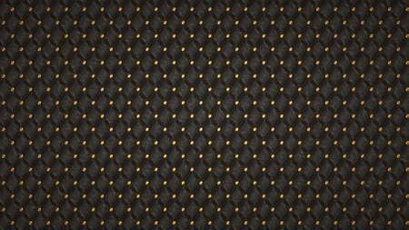 luxurious background: Bumped Alligator skin background with ornament and golden buttons. Useful as pattern