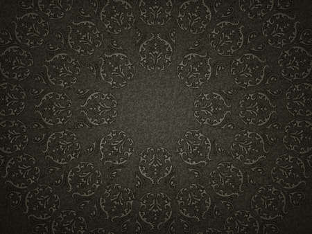 Leather background with embossment or stamping victorian pattern. Useful for luxury photo
