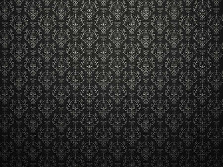Alligator skin black background with impression victorian pattern. large resolution photo