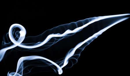 fume: Fume: White smoke abstraction over black background. Stock Photo