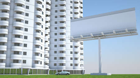 realty residence: Realty and accommodation: Housing and advertisement hoarding with space for caption