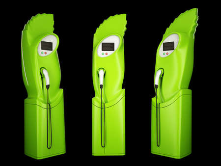 Eco friendly transport: charging stations for electric autos photo