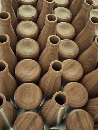 aligote: Storage of empty wooden bottles for wine or beer