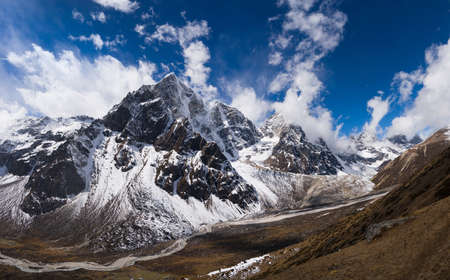 Huge resolution panoramic picture  captured in Nepal at height 4500 m photo