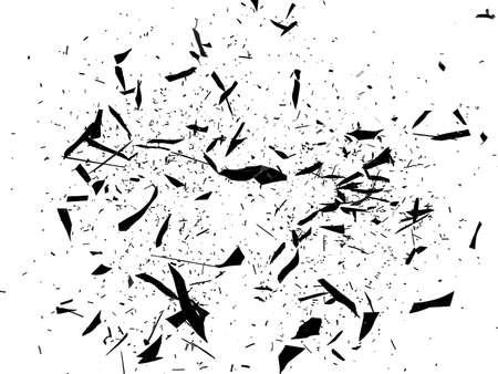 cristal roto: Vidrios rotos y rotos en blanco Gran resolución