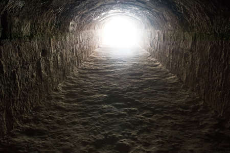Light in the end of the tunnel  Hope and freedom photo