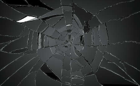 Many pieces of broken or Shattered glass  Large resolution 스톡 콘텐츠
