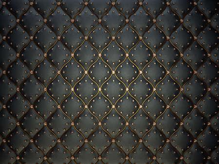 Modelo de cuero negro con hilos de oro y piedras preciosas. Fondo Bumped Foto de archivo - 31360747