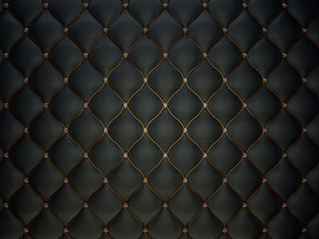 Black Buttoned luxury leather pattern with diamonds and gemstones. Useful as luxury pattern Stock Photo