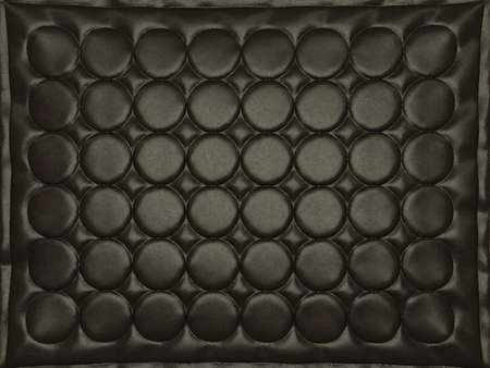 bumped: Bumped black leather background with circles. High resolution