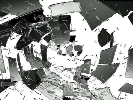 Glass destruction isolated on white. Large resolution photo