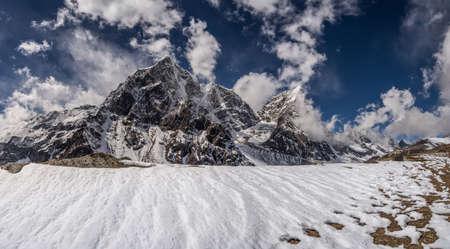 Himalayas landscape with Cholatse and Taboche summits. Travel to Nepal photo