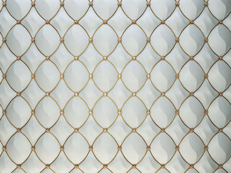 Luxury grey leather background with diamonds and golden wire. High resolution Stock Photo
