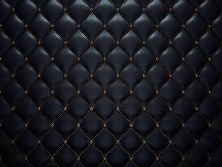 ダイヤモンドと黄金の線を黒革のパターン。快適さと贅沢な