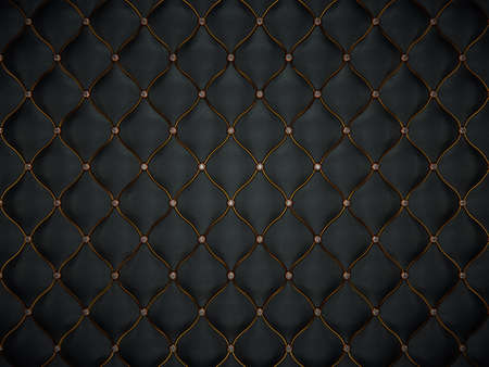 Luxury leather pattern with golden wire and diamonds. luxurious and comfort Stockfoto
