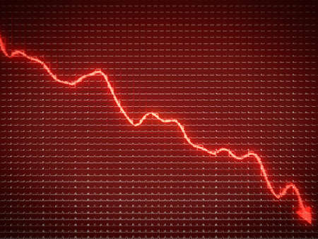 financial crisis: Red trend as symbol of business recession and financial crisis. Large resolution