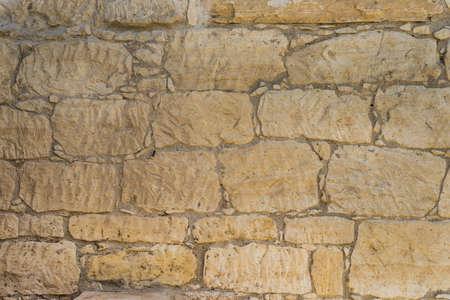 coquina: Vieja textura de la pared de piedra coquina o de fondo. Gran resoluci�n