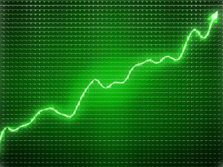 future growth: Green trend as success symbol or financial growth. Useful for analytics