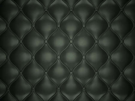 button tufted: Black leather background with buttons. Luxury texture and background