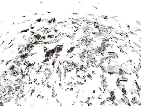 demolished: Pieces of splitted or cracked glass. Large resolution
