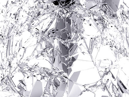 destructed: Pieces of destructed Shattered glass. Large resolution